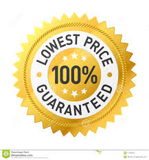 lowest price lowest price guaranteed sticker stock vector image 47045524