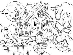coloring pages houses pictuure of haunted house coloring page pictuure of haunted house