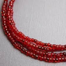 long red necklace images Ruby red seed bead necklace red beaded necklace red layering etsy jpg
