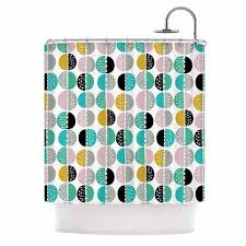 Dc Shower Curtain Teal And Gold Shower Curtain Fishscales Shower Curtains