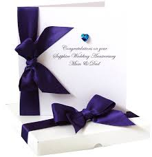 bedazzled personalised sapphire anniversary card by made with