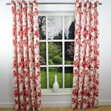 Curtains With Red Red And Cream Curtains With Eyelets Home Design Ideas