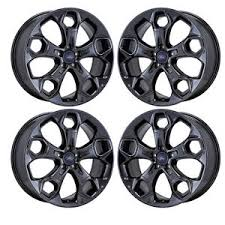 ford rims 19 ford escape black chrome wheels rims factory oem 2017 set 4