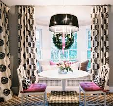 Drapes Black And White Black And White Curtains Contemporary Dining Room Lonny Magazine