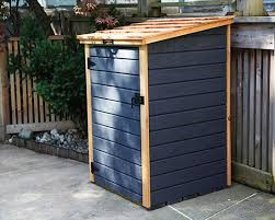 Shed For Backyard by Compact Storage Shed For Garbage Bins U0026 Recycling Bins Redwood Sheds