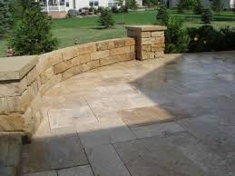 Travertine Patio Love The Limestone Patio Pavers And Wall For The Home