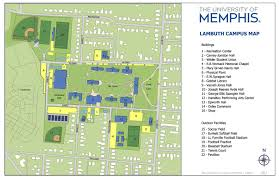 Memphis Map Parking At The University Of Memphis Lambuth U0026 Millington Campuses