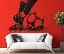 vinyl wall decal sticker soccer feet 5074