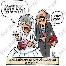 dessin humoristique mariage il n est jamais trop tard illustration mariage libre de droit sur