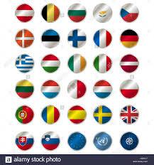 States Flags Alle Flaggen Der Mitgliedstaaten Der Eu Eu Flagge Uno Und