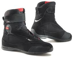 black moto boots short tcx x cube evo wp boots revzilla
