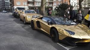 gold cars gold supercar fleet hit with parking tickets