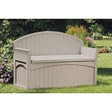 Deck Storage Bench Suncast Patio U0026 Deck Storage Brown Sears