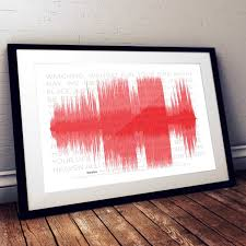 Wildfire Rap Song by Personalised A3 Music Song Track Sound Wave Print With Lyrics