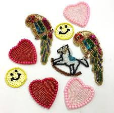 kids assortment hearts parrots smiley face and rocking horse