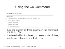 Count No Of Words In Unix A Guide To Unix Linux Fourth Edition Ppt