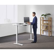 Adjustable Desk Height by Stilford Electric Height Adjustable Desk 1600mm Officeworks