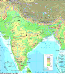 India Physical Map by Vinod Sharma Maps