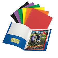 fice Depot Brand 3 Prong Portfolio With 2 Pockets Assorted Colors
