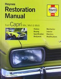ford capri restoration manual restoration manuals amazon co uk