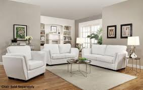 White Leather Couch Living Room Lois White Leather Sofa And Loveseat Set Steal A Sofa Furniture