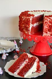 red velvet cake with cream cheese frosting tortas u201eraudonasis