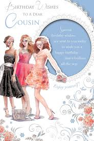 cousin birthday card cousin birthday card birthday girl wearing fancy dress