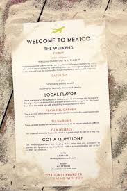 Wedding Itinerary For Guests Welcome Bag Tips For Your Destination Wedding At Cancun Or Riviera