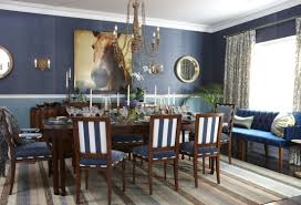 Blue Dining Room Ideas Home Design Table Dining Room Traditional With Grey Wallpaper