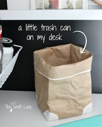 Small Desktop Trash Can Home Office In A Closet The Crazy Craft Lady