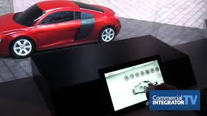 interactive projection mapping car dealership application with