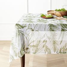 tablecloths linen cotton and polyester crate and barrel