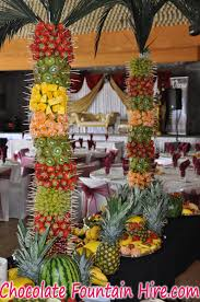 Palm Trees Fruit - fresh fruit display chocolate fountain hire