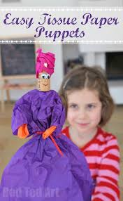 easy tissue paper puppets perfect for 3 kings day at christmas