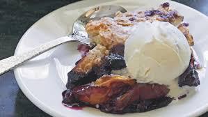 make an easy peach blueberry skillet cobbler today com