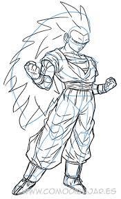como dibujar goku paso 11 u2026 goku1 goku drawing