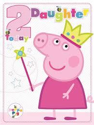 peppa pig large daughter age 2 2nd birthday card ebay