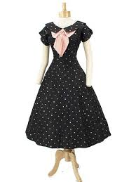 1950s black pink polka dot princess tea length dress 50 u0027s vintage