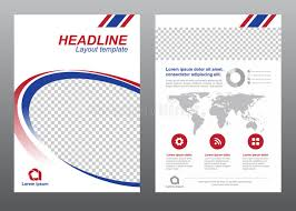 circle layout vector layout flyer template size a4 cover page blue and red modern circle