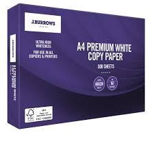 j burrows 80gsm premium a4 copy paper 500 sheet ream officeworks