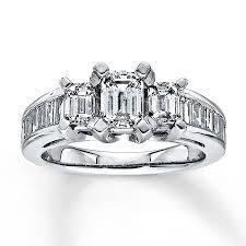 kay jewelers diamond engagement rings kay diamond ring 2 ct tw emerald cut 14k white gold