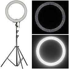 Photography Lighting Neewer 18 Led Ring Light Dimmable For Photo