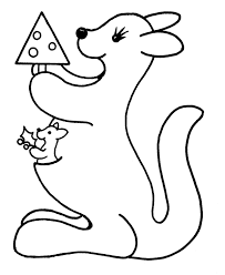 learning years christmas coloring pages kangaroo with small