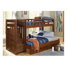 Bunk  Loft Beds With Stairs Wayfair - Stairway bunk bed twin over full