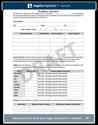 roommate agreement form create a free roommate agreement legal