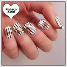 striping tape nail art tutorial plus rose decals nailsxo