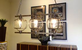 chandelier dining room lighting with dark brown wooden finish varnished rectangle