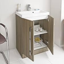 drift walnut vanity unit with basin 600mm 600mm victoriaplum com