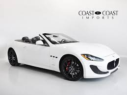 maserati granturismo convertible white carmel location inventory coast to coast auto sales