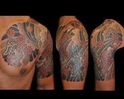 angel half sleeve tattoo meaning ideas chest design idea for men